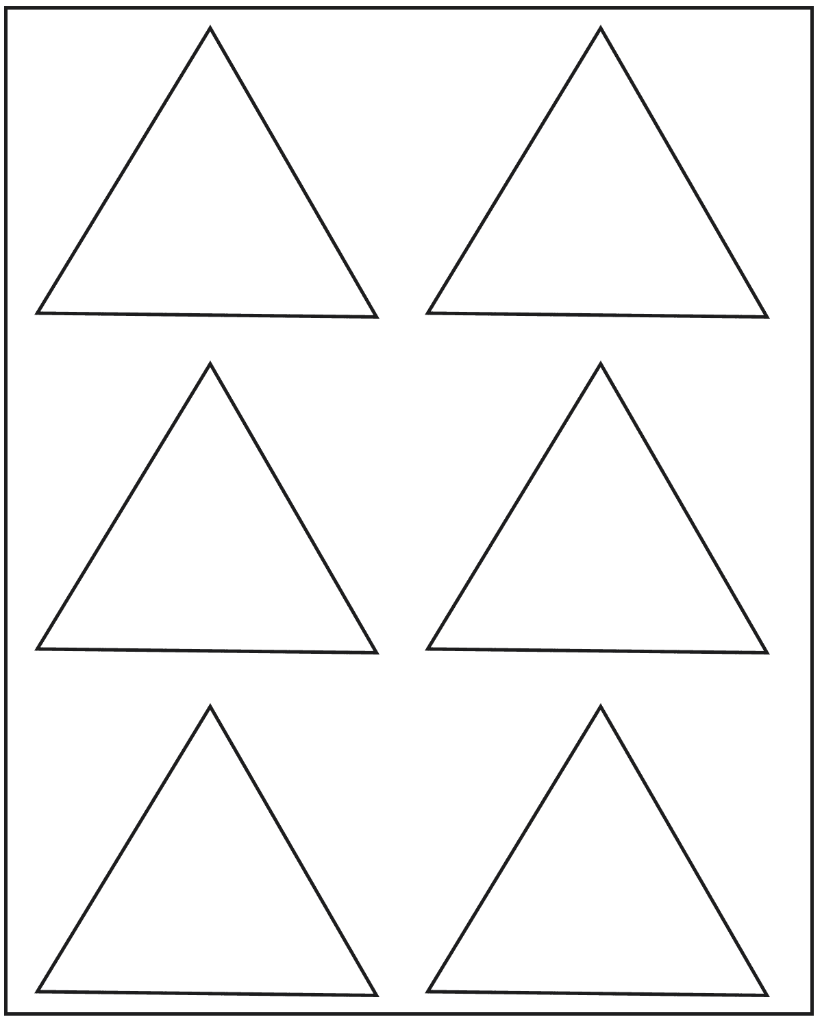 5 Free Printable Blank Triangle Template
