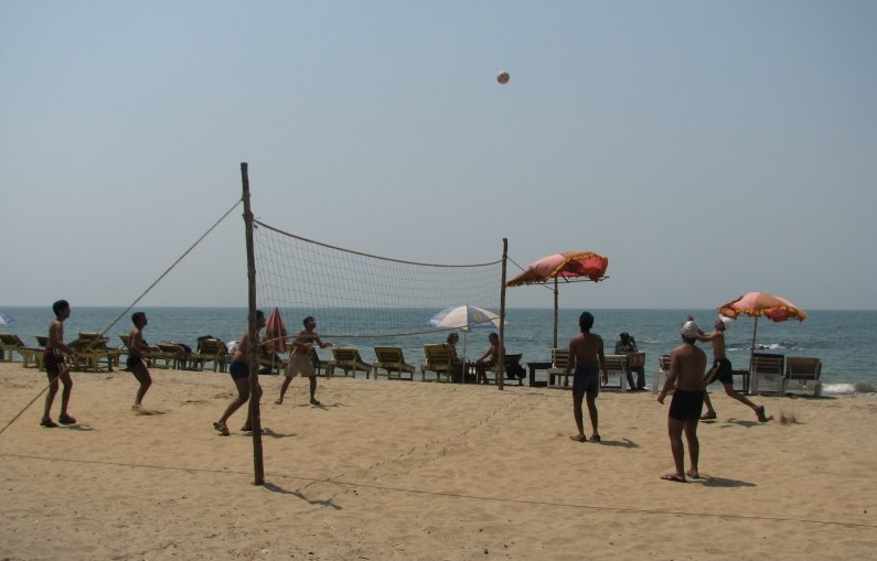 Beach Volleyball on Vagator beach, Goa