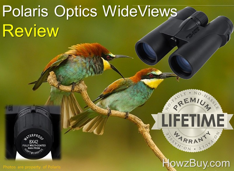 Polaris Optics WideViews - 8X42 HD Professional Bird Watching Binoculars