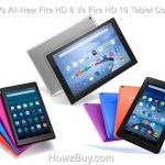 Fire Vs All-New Fire HD 8 Vs Fire HD 10 Tablet Compare