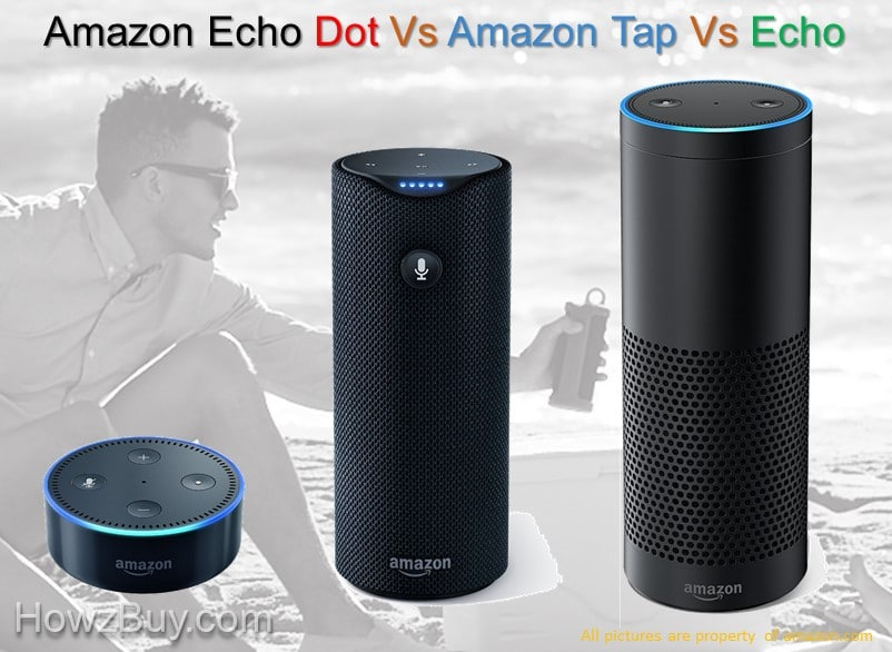 Amazon Echo Dot vs Amazon Tap vs Echo Comparison