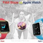Apple vs Fitbit Blaze Fitness Tracker Review & Comparison