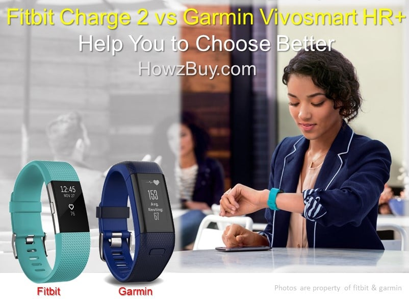 Fitbit Charge 2 vs Garmin Vivosmart HR+ Tracker Comparison