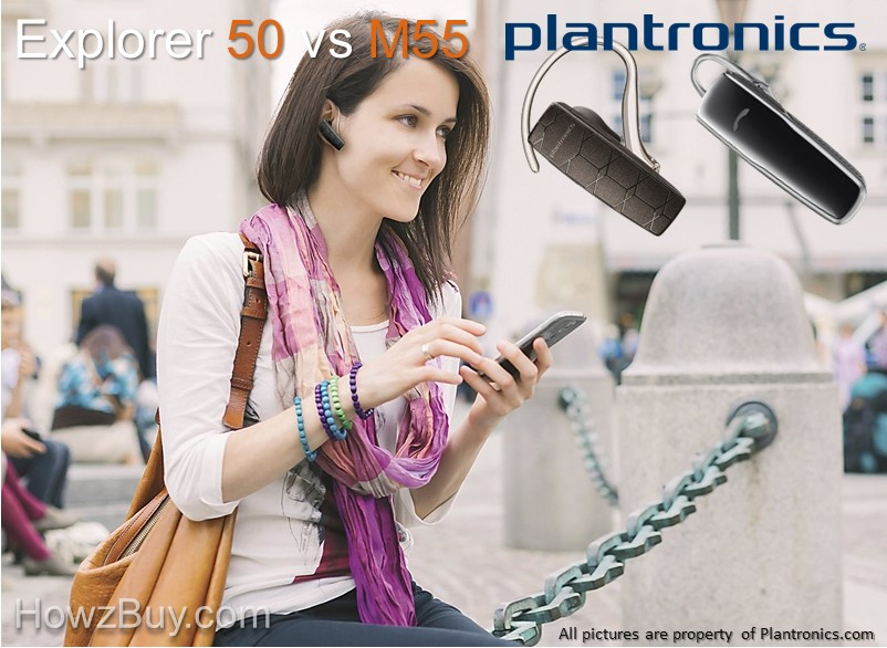 Plantronics Explorer 50 vs M55 Wireless Bluetooth Headset review