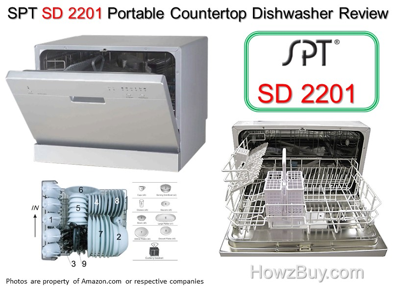 spt sd portable countertop dishwasher review