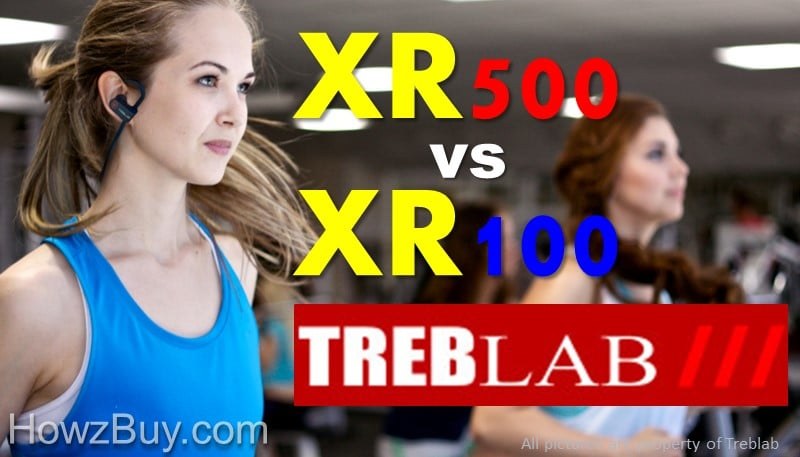 Treblab XR500 vs XR100 Bluetooth Headphones Compare & Review