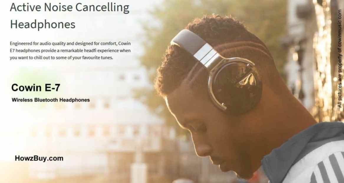 Cowin E-7 Active Noise Cancelling Wireless Bluetooth Headphones Review-Cowine7