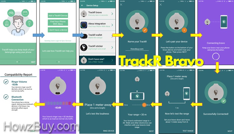 TrackR Bravo Bluetooth Tracker pairing with iphone