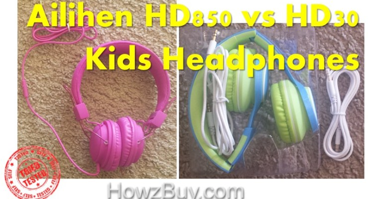 Ailihen HD850 vs HD30 Kids Headphones review and comparison