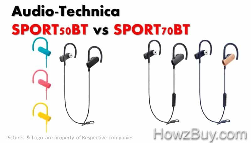 Audio-Technica SPORT50BT vs SPORT70BT comparison new launch