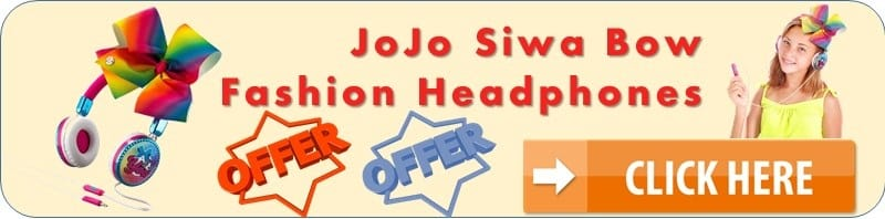 JoJo Siwa Bow Fashion Headphones special discount offer