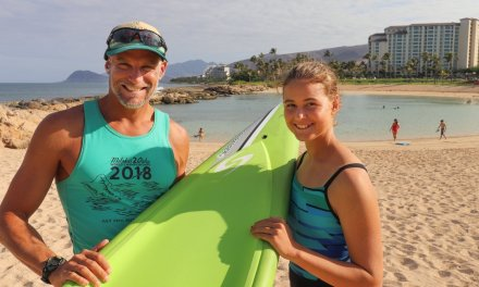 ʻEwa Beach Father and Daughter Take On Molokaʻi Channel