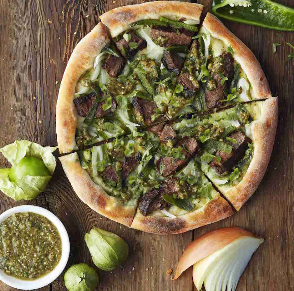 carne asada pizza at california pizza kitchen