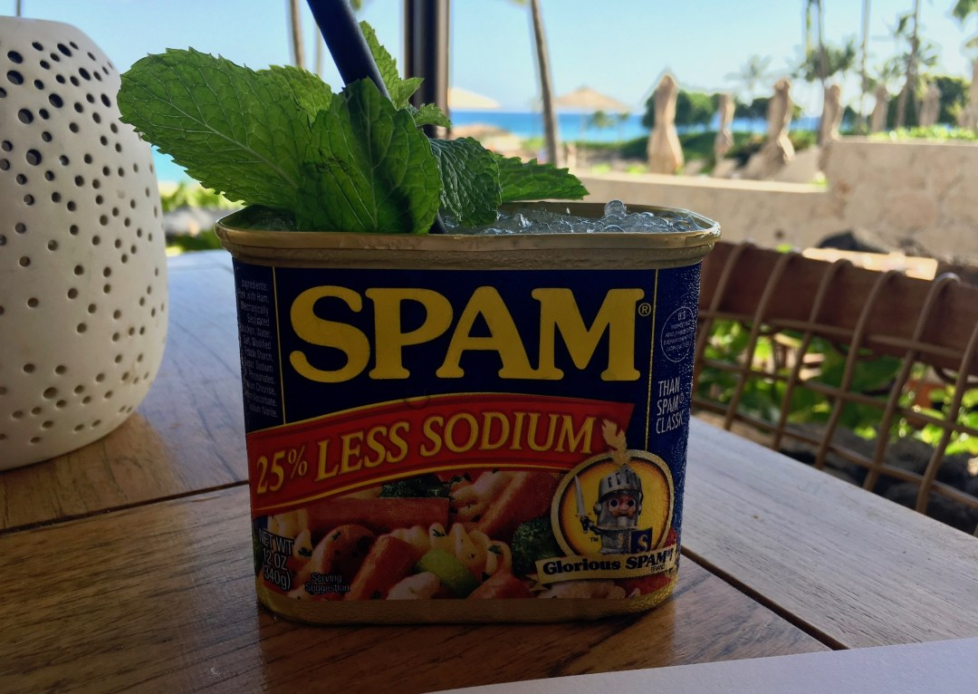 If Can Can Drink in a Spam Can Mina's Fish House
