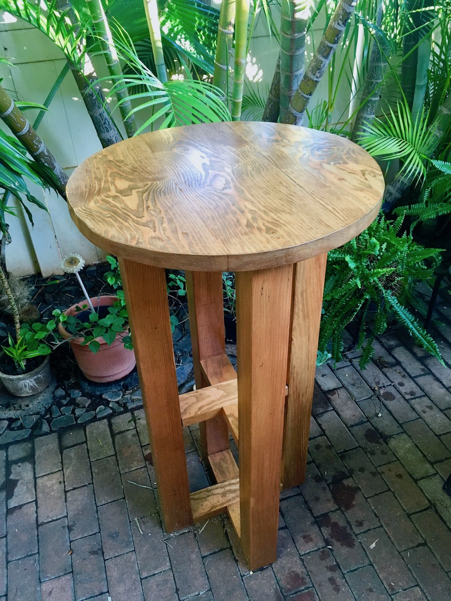 table made with materials and help from hardware hawaii