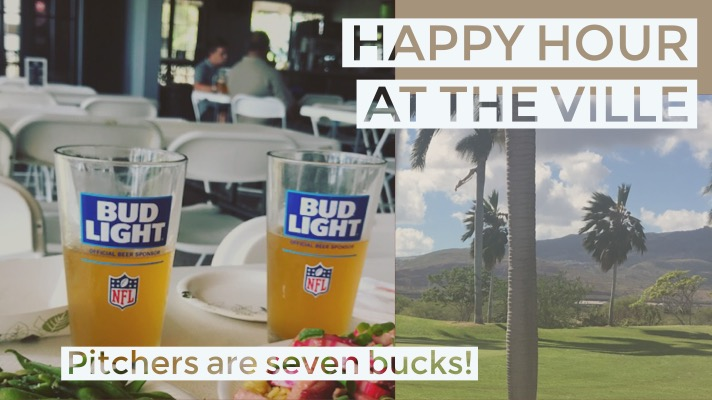 Happy hour at the Ville - pitchers are seven bucks!