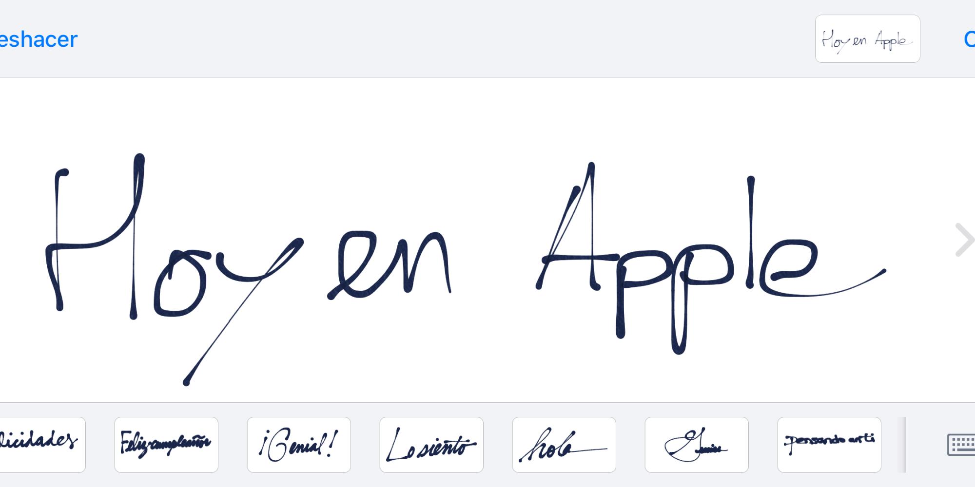Texto a mano iMessage