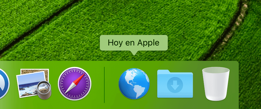 Hoy en Apple Dock
