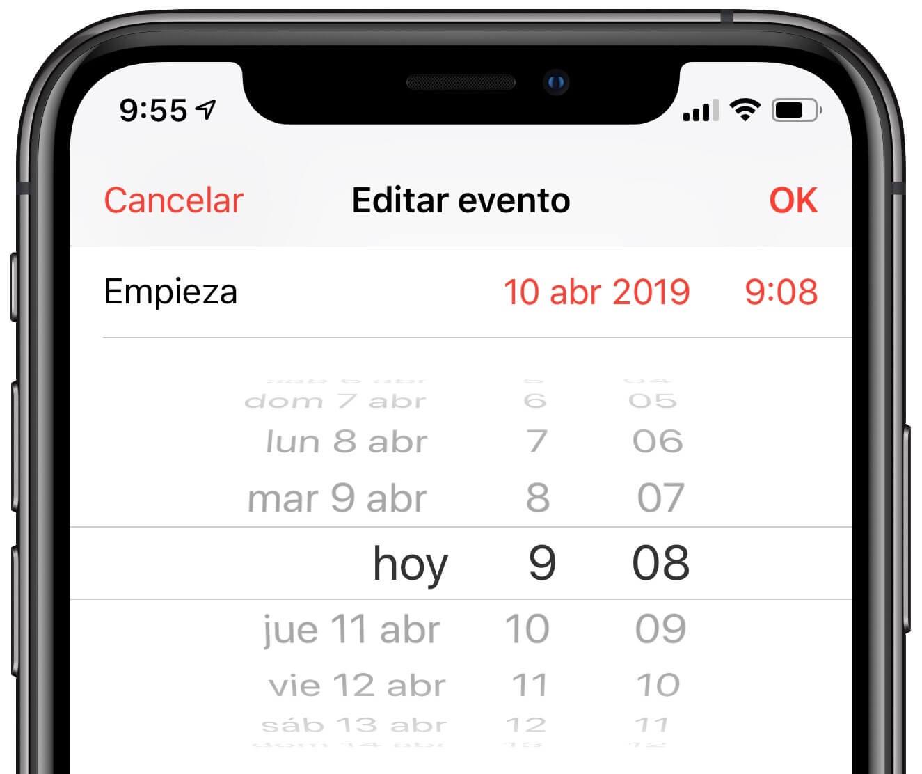 Horario Calendario