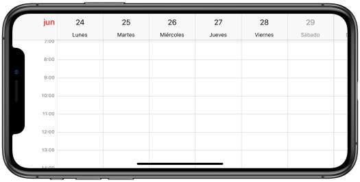 Calendario Horizontal - Hoy en Apple