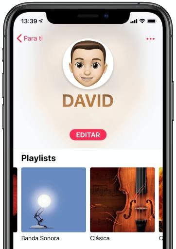 Perfil Apple Music
