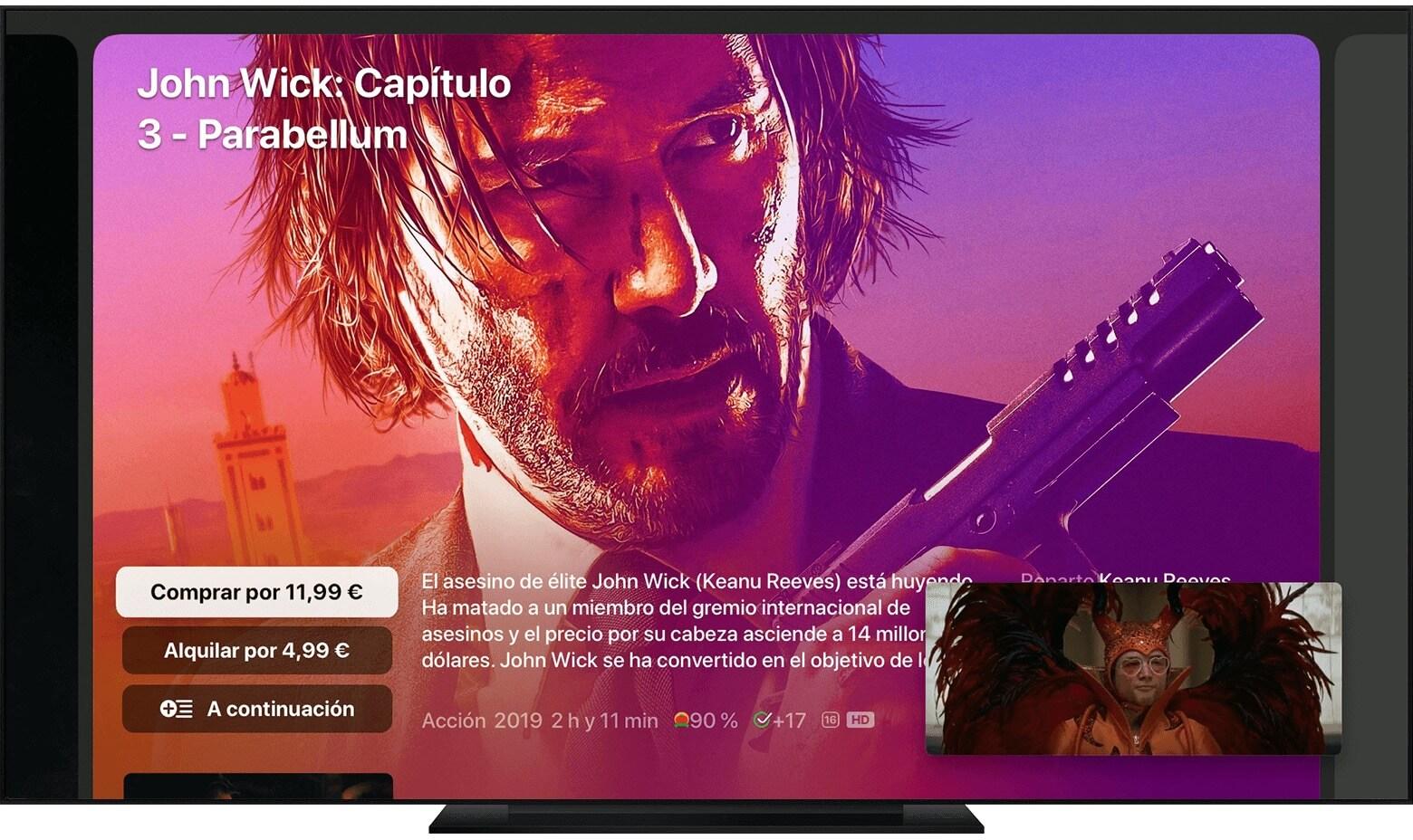 Imagen dentro de imagen Apple TV