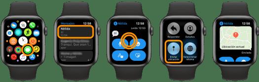 Cómo compartir nuestra ubicación en Mensajes desde el Apple Watch