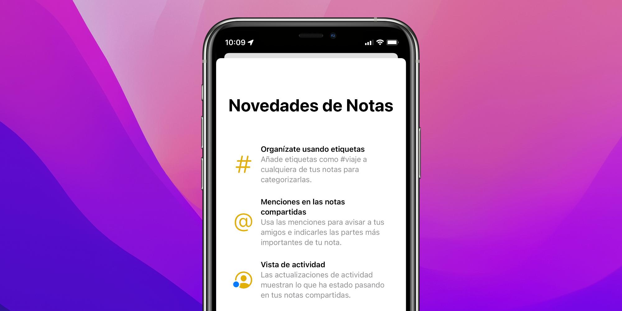 Notas iOS 15