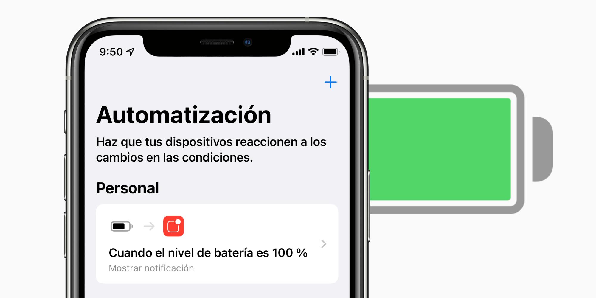 Cómo recibir una notificación cuando nuestro iPhone o iPad está completamente cargado