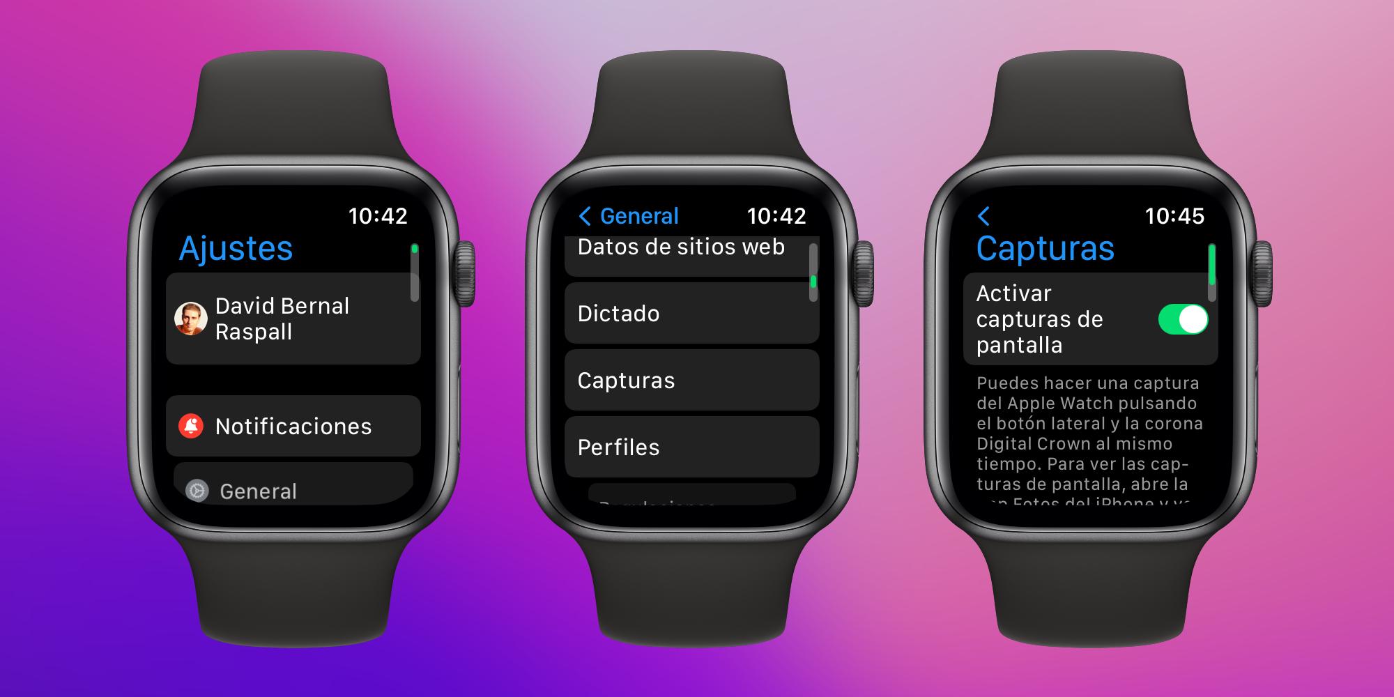 Cómo tomar capturas de pantalla de nuestro Apple Watch