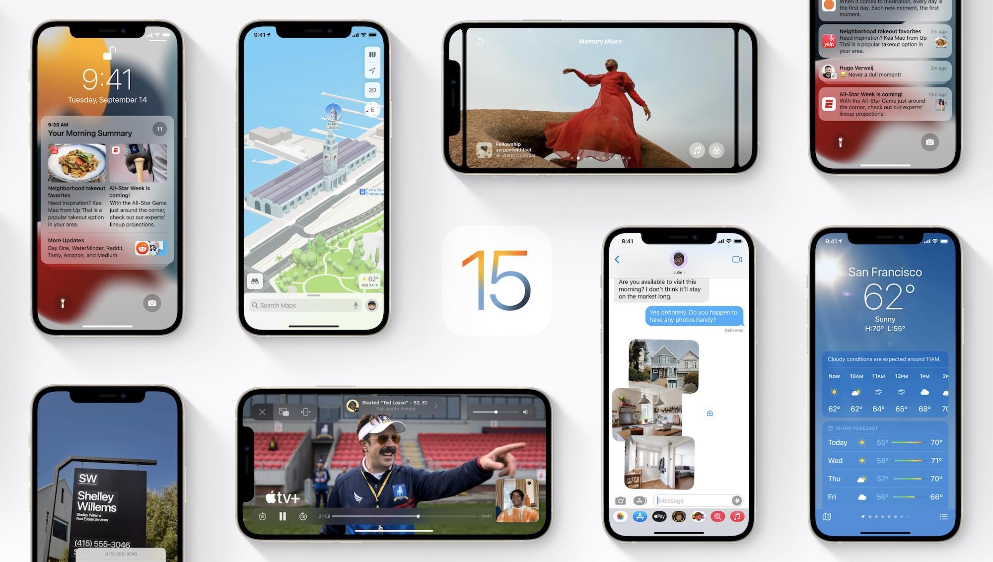 iOS 15, iPadOS 15 y watchOS 8 llegan hoy: todas las novedades de los nuevos sistemas operativos