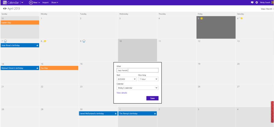 el nuevo outlook-com calendario