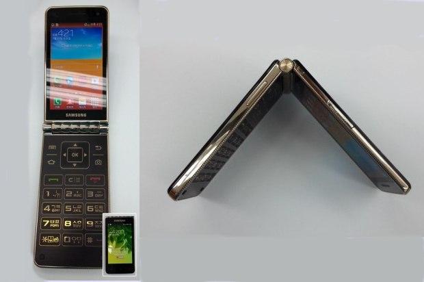 El Samsung Galaxy Golden, Smartphone con tapa tipo concha y teclado