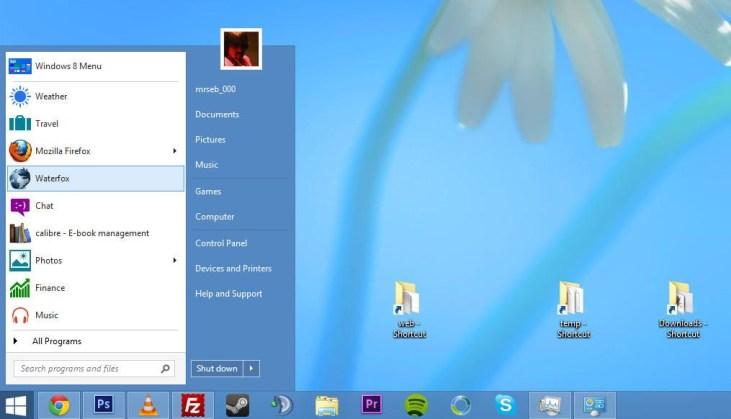 Windows  Menu de Inicio