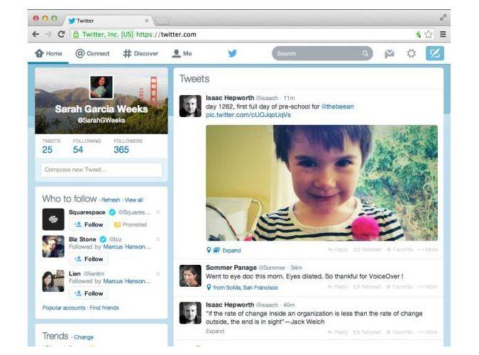 Twitter diseño