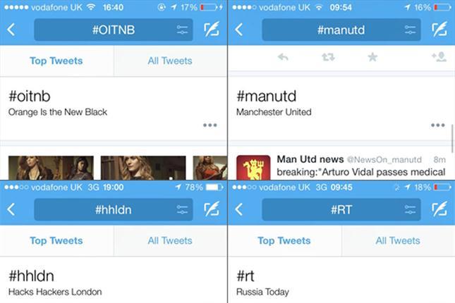 Twitter prueba mejoras a sus hashtags
