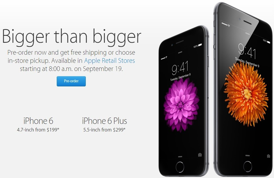 Apple Store colapsa por pedidos de iPhone 6
