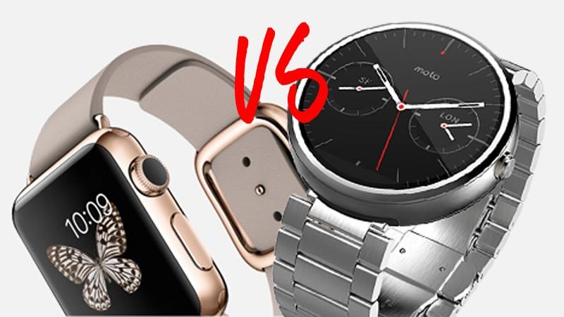 Apple Watch vs Moto 360 cual smartwatch gana