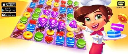 pastry paradise juego adictivo gameloft