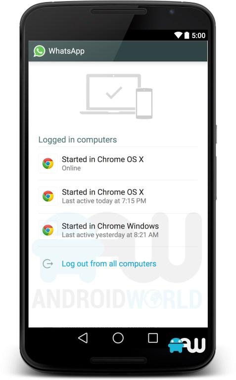whatsapp para web lanzamiento android