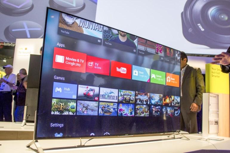 Android Lollipop se ejecutará directamente en las televisiones Sony. Foto: Android Headlines