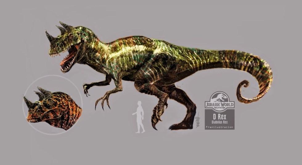 dinosaurios d-rex jurassic world movie