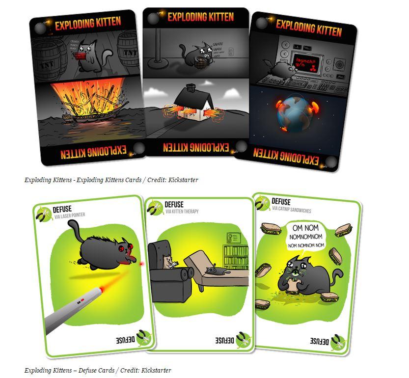kickstarter Explosión de Gatitos cartas-35714