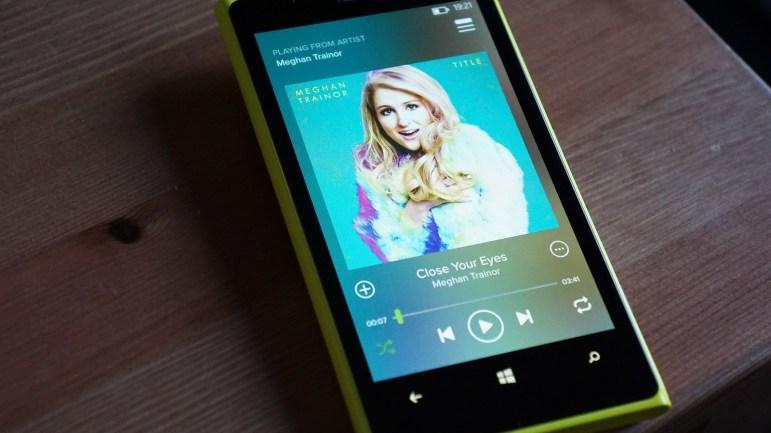 spotify 5.0 windows phone actualización