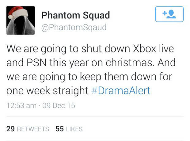 Hackers planean ataque a redes de PlayStation y Xbox tweet