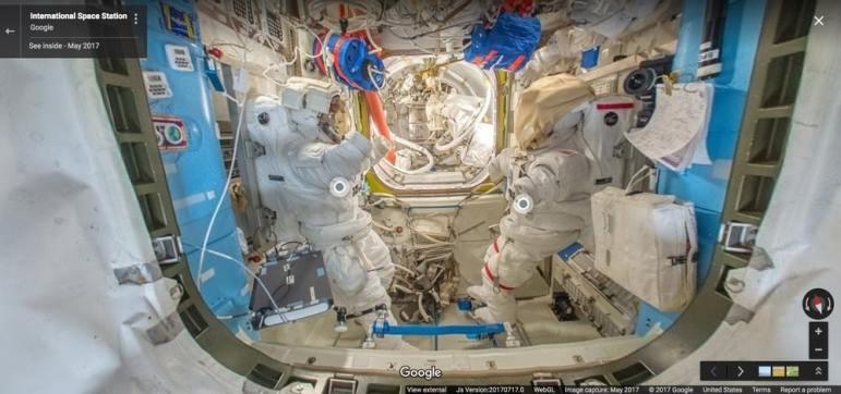 Estacion Espacial Internacional Google Street View