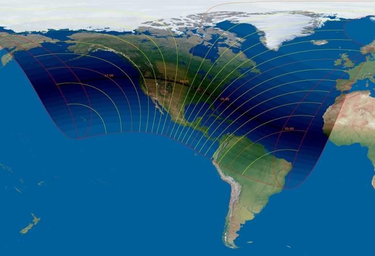 Eclipse solar 2017-Mapa