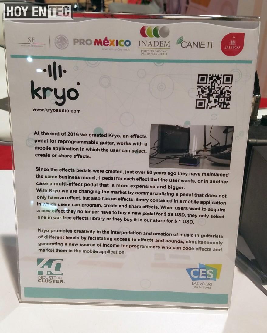 Kryo pedal para guitarra programable con App es creado por mexicanos #CES2018 @inadem-2