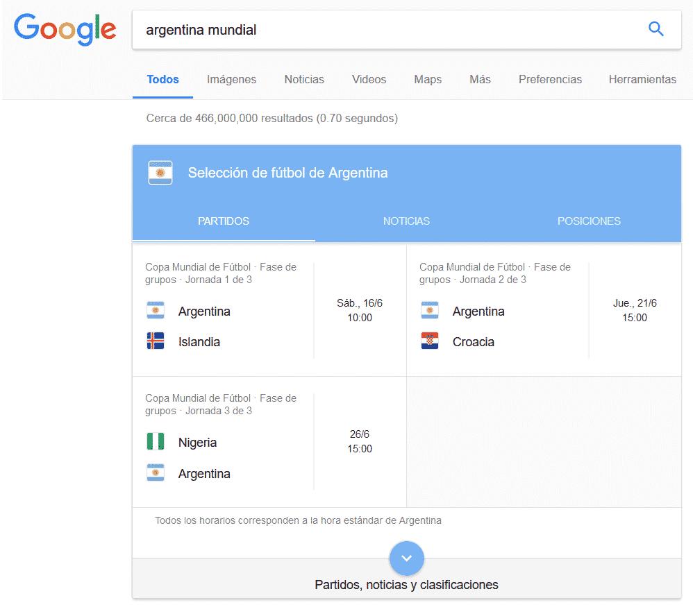 Así podrás seguir el Mundial de Rusia 2018 a través de Google