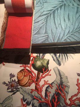 Entwurf für ein Gartenzimmer - Pierre Frey und Arte Wallcoverings